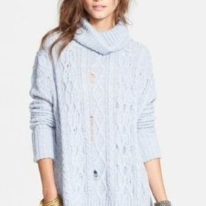 Free People Love Worn Sweater Distressed Slouchy M